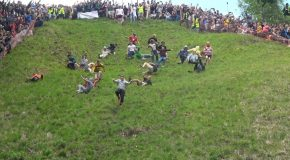 Multiple Injuries at the 2019 cheese rolling contest in the UK