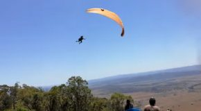 Paraglider Hit by Dust Devil