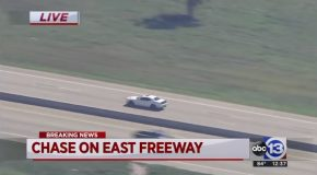 Stolen Dodge Hellcat Outruns Chopper in Houston Police Chase!