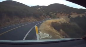 Tesla Autopilot Crashes On A Winding Mountain Road