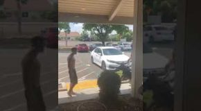 Idiot Challenges K9 Officer and His Dog and Pays the Price