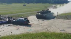 Tank vs Car High Speed