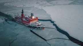 The World's Biggest Nuclear Icebreaker Sailing Through The Arctic