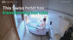 Transforming Hot Tub In The Swiss Alps