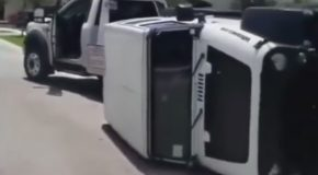 Woman Tries To Drive Off Repo Truck and Gets a Painful Wake Up Call