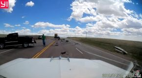 Man Swerves to Avoid Car that Causes Head-On Collision