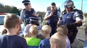 Little Boy Calls Police To Invite Them To His Birthday Party