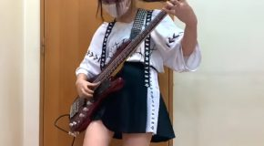 Amazing Young Japanese Bassist Girl!