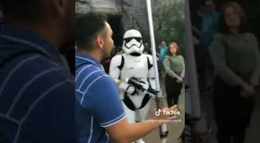 Guy Gets Roasted Star Wars Style!