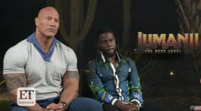 Kevin Hart and The Rock : Kevin Hart freaking out over a butterfly