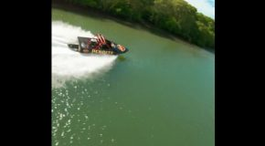 Racing Drone Vs Jet Boat, Who Wins?