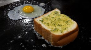 The Tastiest Egg Fried Garlic Toast You'll Ever See