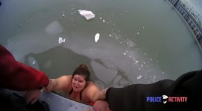 Woman Gets Saved From Freezing And Drowning To Death By Cop