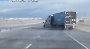 Winds Strong Enough To Blow Away A Truck!