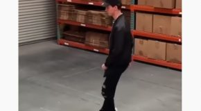 Guy's Moonwalk Might Be Smoother Than Michael Jackson Himself!