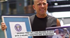 World Record! Guy Pulls Off The Lengthiest Plank!