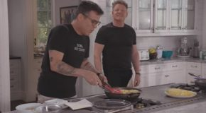 Gordon Ramsay Gets Shocked By Steve O Making A Southern Omelette!