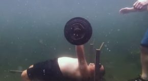 World Record For The Most Bench Presses Done Underwater!