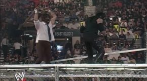 Mankind Gets Thrown Off The Top Of The Hell In A Cell By The Undertaker!