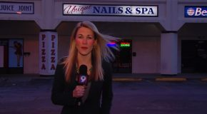 Reporter Warming Up Before Going Live Almost Sounds Like She's Rapping!