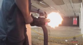 Trying Out Empty Shell's Handheld XM556 Microgun!