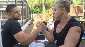 Arm Wrestling Match Against The Strongest Woman In USA!