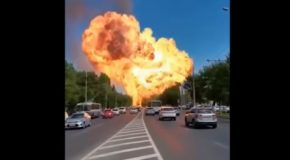 Huge Explosion At The Gas Station In Volgograd, Russia!