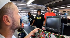 Skaters Turn Grocery Store Into A Skate Park!