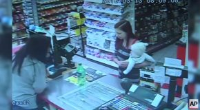 Store Clerk Grabs Baby Out Of Mother's Hands Before She Collapsed