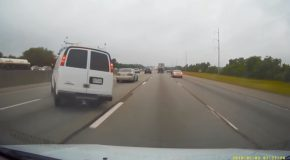 Driver Brake Checks At The Wrong Time, Road Rage Ensues!