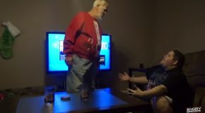 Grandpa Gets Angry And Destroys PS4!