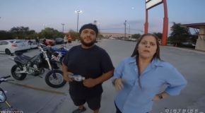 Horrible Biker Gets Offended By Guy's Strong Handshake!