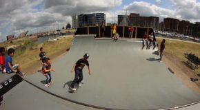 Small Kids Cause A Squabble In A Skate Park