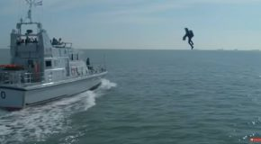 The Royal Navy Tests Out Their Jetpack Assault Procedure!