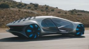 Mercedes Benz's Vision AVTR Concept Gets Road Tested!