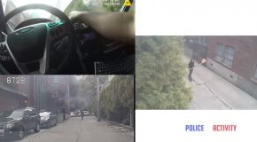 Suspect Caught Throwing Torch Inside Cop's Car While He Was Still Inside!