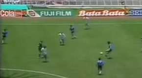"""The Amazing """"Hand Of God"""" Goal In 1986 World Cup By Maradona!"""