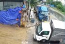 Truck Accidentally Drifts Into A Factory Like A Boss!