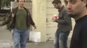 A Clip Of Magician David Blaine Harassing A Couple Outside Their House!