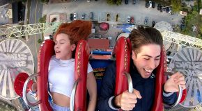 Amusement Park Rider Experiences Every Emotion Possible!