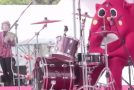 Costumed Drummer Is Overqualified For His Job!