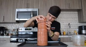 Guy Tries The 108 Bologna Challenge!
