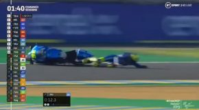 Joan Mir Crashes During Race, Recovers During The Crash Itself!
