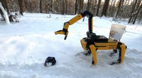 Robotic Dog By Boston Dynamics Named Spot Now Has An Arm!