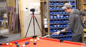 Strangers Go Head To Head Against The Automatic Pool Stick!