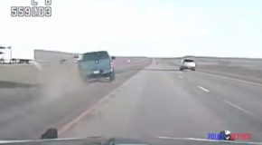 Driver Gets Thrown Out His Car While Fast Paced Chase, Tries To Escape On Foot!