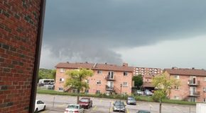 Man Filming Rain Clouds Suddenly Gets Hit By Tornado!