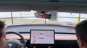 Rather Uneventful Yet Fast Tesla Car Ride Through A Company Tunnel!