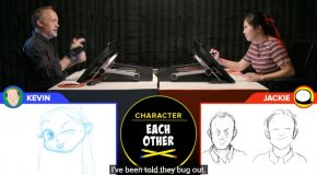 Drawing Off Competition Between An Animator And A Cartoonist!