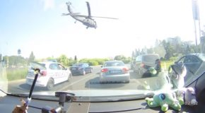 US Helicopter Force Lands In Central Bucharest!